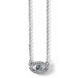 Lia Sophia Pavé CZ Evil Eye Necklace
